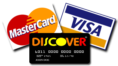 For your convenience, we accept payments made with Visa, Mastercard, Discover and American Express